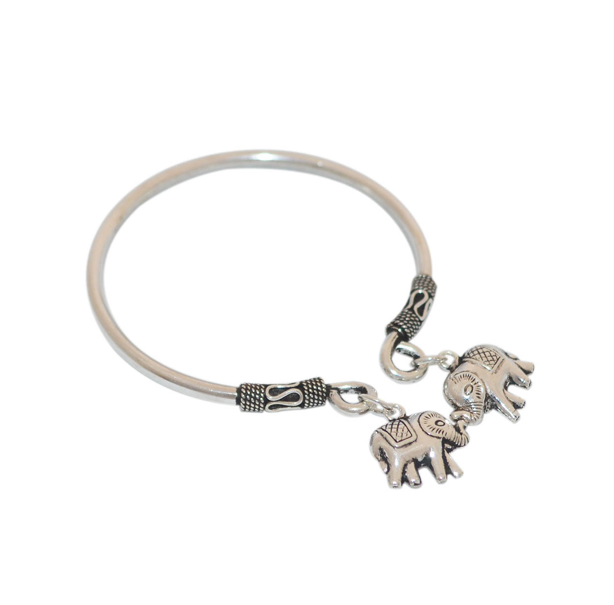 Exclusive Small Elephant Silver Bangle