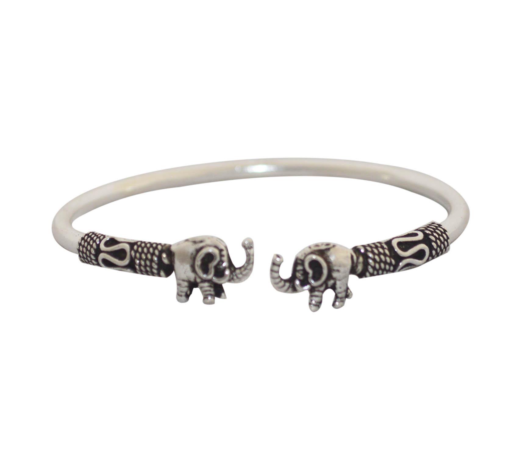 Oxidised Small Elephant Bangle