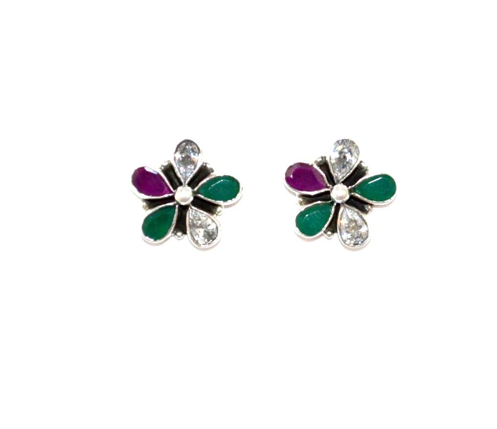 colorfull flower earring