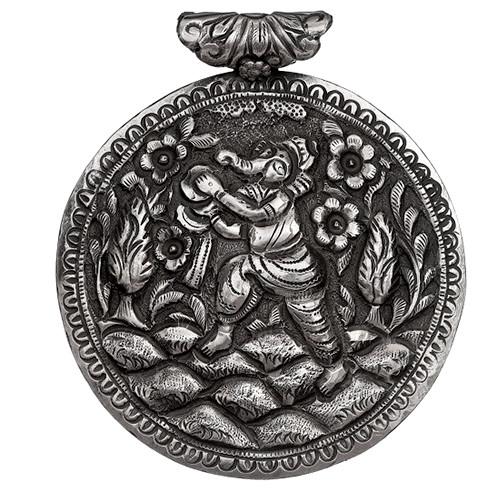 Ganesh ji Floral Nakshi Pendant
