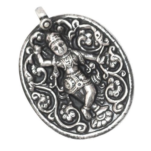 Devi Small Silver Work Pendant