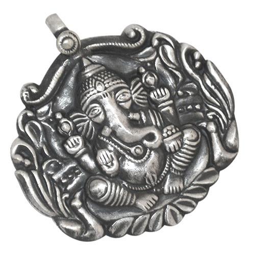 Ganesh Ji Silver Pendant