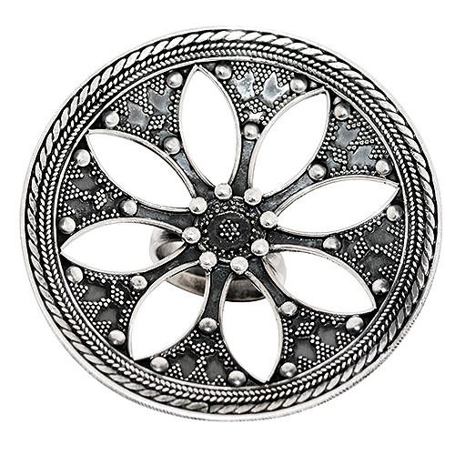 Big  Flower Jaali Ring