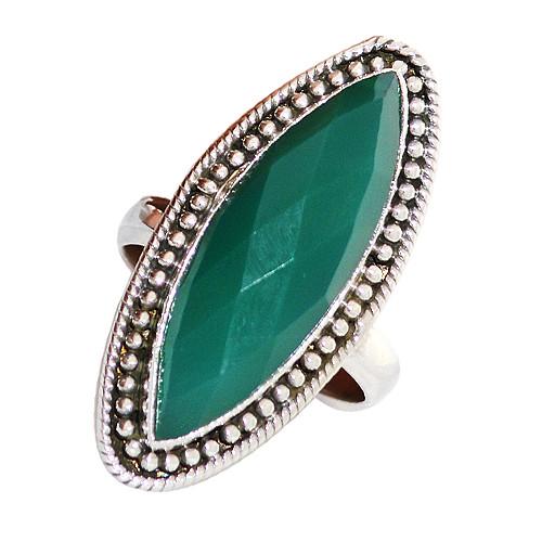 Long Green Onyx Ring