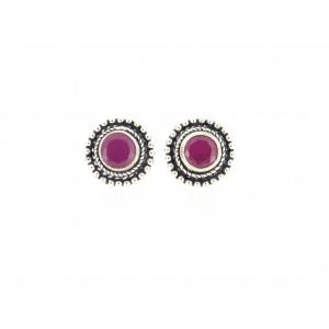 Round cutstone earring