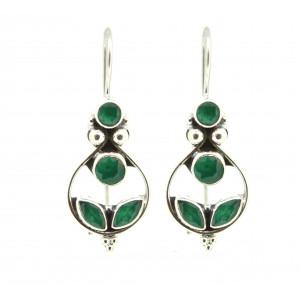 Beautifull green long earring
