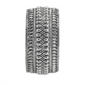 Kolhapuri style Silver bangles