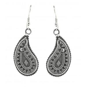 Beautiful Rava Work Silver hanging earrings