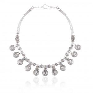 Short Length Handmade silver Neckline