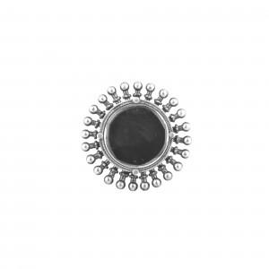 Mirror work adjustable fashion ring