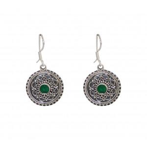 Handmade Green Onyx Earring