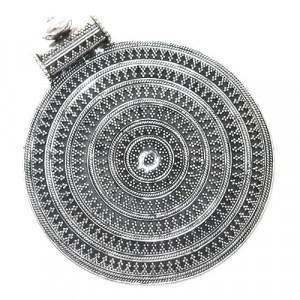 Big Oxidised Unique Pendant