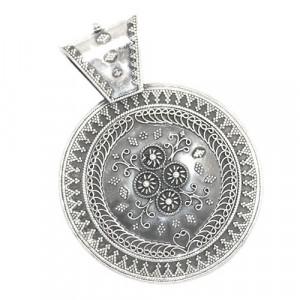 Oxidised Silver Pendant