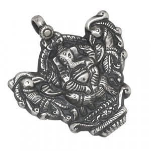 Shri Ganesh Silver Pendant