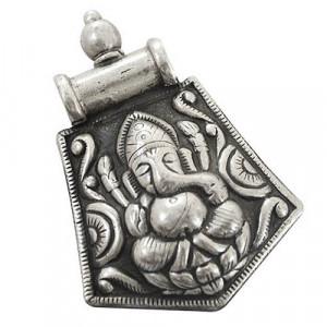 Ganesh Ji Small Silver Pendant