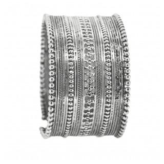 Rava work oxidised elgant bangle in silver
