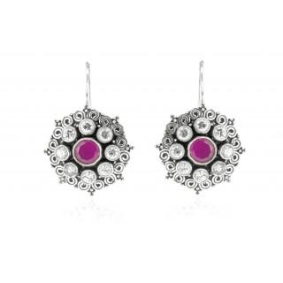 cutstone studded fashion earrings
