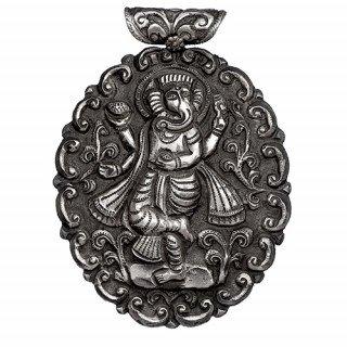 Ganesh ji carved pendant