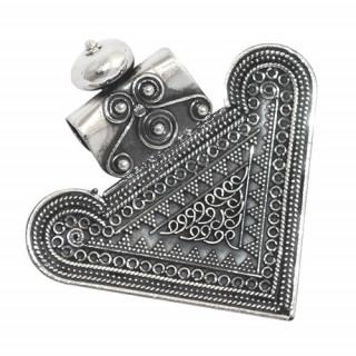Silver Rava Heart Shape Pendant