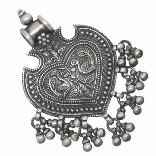 Antique Spade Silver Pendant