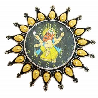 2 Tone Ganesh Ji Ring